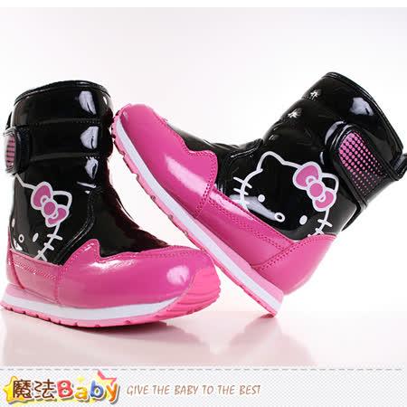 魔法Baby~女童靴 Hello kitty授權正品亮面長筒靴 sh8947
