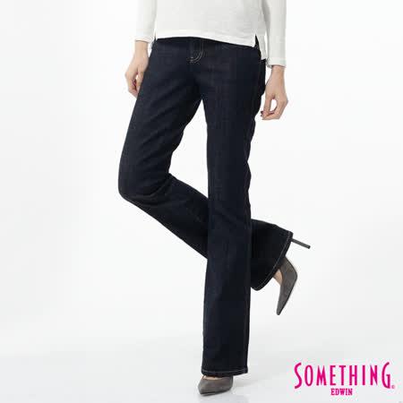 SOMETHING NEO FIT中低腰靴型牛仔褲-女-原藍色