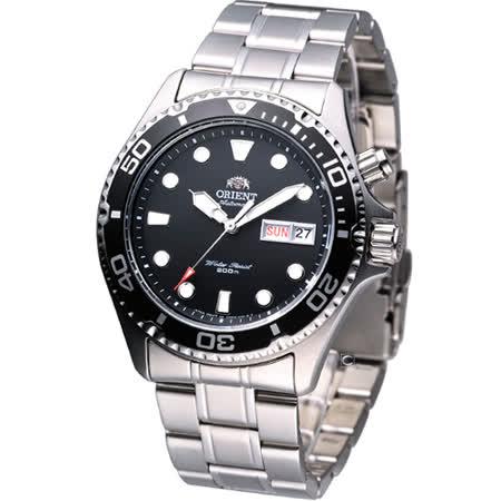東方 ORIENT 海洋征服者200M防水機械錶 FEM65008B 黑色