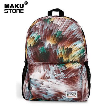 【MAKU STORE】新款日韓版學生旅遊背包休閑潮女後背包-彩色幻彩