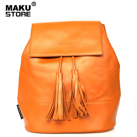 【MAKU STORE】秋新款韓版學院風時尚PU流蘇後背包-咖啡色