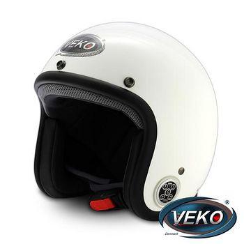 VEKO 藍芽4.0立體聲復古安全帽 (BTS-C2珠光白)
