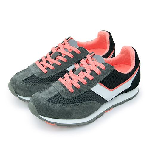【女】PONY 繽紛韓風復古慢跑鞋 SOHO 學院潮流系列 灰黑橘 54W1SO73GR