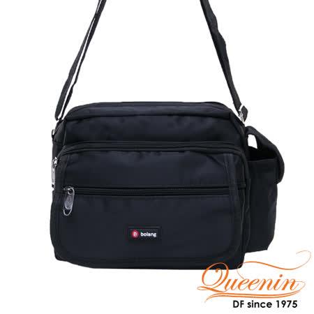 DF Queenin - 經典休閒系機能質感側背包-黑色