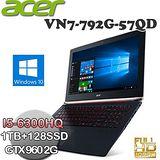 ACER VN7-792G-57QD(17.3FHD/I5-6300HQ/8GB/GTX960/Win10) 高效能戰鬥影音筆電