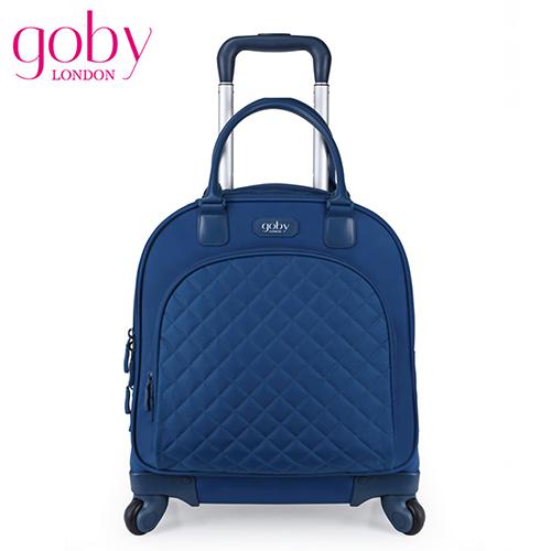goby果比18吋四輪多功能手提小拉桿箱(萬向高雄 阪急 百貨輪女性登機行李箱)-藍莓藍