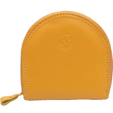 【波克貓哈日網】日系便利商品◇拉鍊零錢包◇《黃色皮革 》