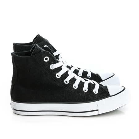 CONVERSE (女)帆布鞋(高統)-黑-549647C