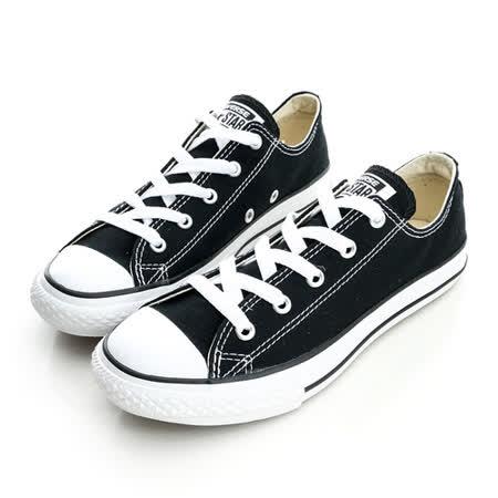 CONVERSE (童)帆布鞋(低統)-黑-3J235C