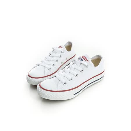 CONVERSE (童)帆布鞋(低統)-白-3J256C