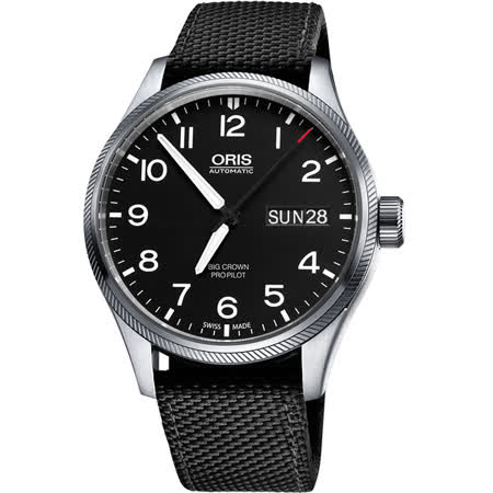 Oris Big Crown ProPilot 日曆星期機械腕錶-黑/45mm 0175276984164-0752215FC