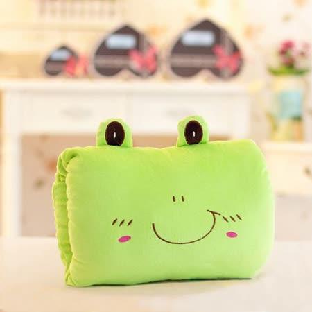 可愛《動物暖手枕-綠青蛙》抱枕/午睡枕/靠枕/趴睡枕~必備小物 (現貨+預購)
