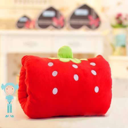 可愛《動物暖手枕-紅草莓》抱枕/午睡枕/靠枕/趴睡枕~必備小物 (現貨+預購)