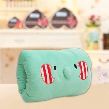 可愛《動物暖手枕-藍小象》抱枕/午睡枕/靠枕/趴睡枕~必備小物 (現貨+預購)
