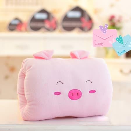 可愛《動物暖手枕-粉小豬》抱枕/午睡枕/靠枕/趴睡枕~必備小物 (現貨+預購)
