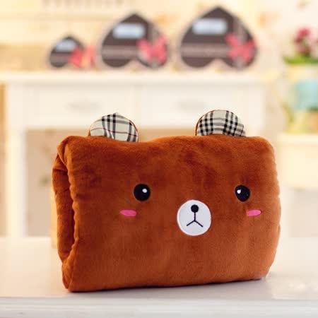 可愛《動物暖手枕-棕小熊》抱枕/午睡枕/靠枕/趴睡枕~必備小物 (現貨+預購)