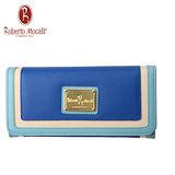 義大利Roberto Mocali藍色19卡二折長夾RM-58203