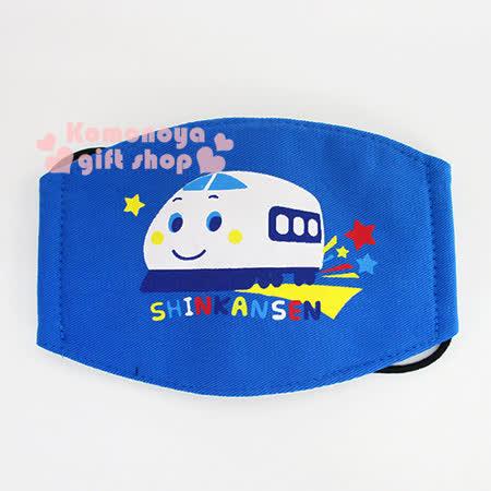 〔小禮堂〕新幹線 兒童平面口罩《藍.星星》感冒對策用品