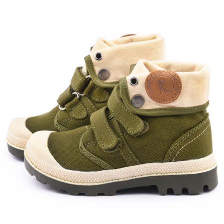 童鞋城堡-Roberta 中大童 帥氣紳士中筒鞋615081-綠