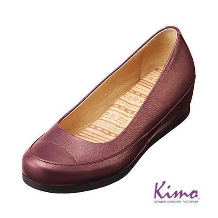【Kimo德國品牌手工氣墊鞋】氣質真皮淑女鞋_醇酒紅(K14WF035089)