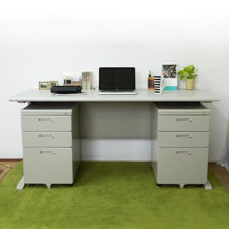 HAPPYHOME CD150灰色辦公桌櫃組Y700-9+Y702-19