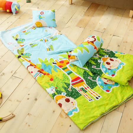 HO KANG 100%純棉兒童睡袋 鋪棉涼被兩用 加大款- 派對
