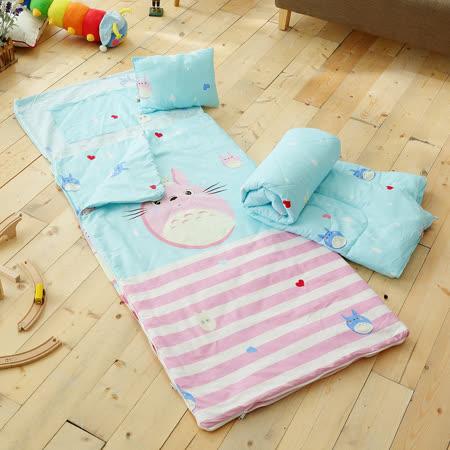 HO KANG 100%純棉兒童睡袋 鋪棉涼被兩用 加大款- 調皮龍貓