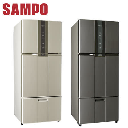 SAMPO聲寶 580公升一級變頻三門冰箱SR-N58DV(Y2/K2)送安裝+送惠而浦可水洗集塵袋吸塵器