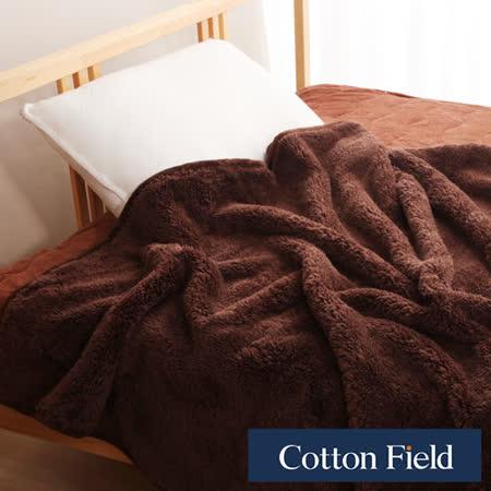 棉花田【羊羔絨】超細纖維超柔暖隨意毯-可可色