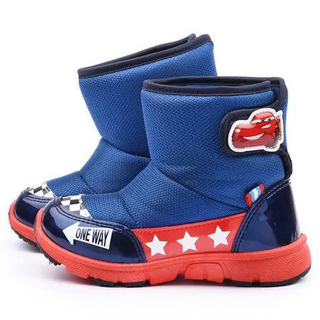 童鞋城堡-Cars閃電麥坤 中童 帥氣拉風中筒靴554609-藍