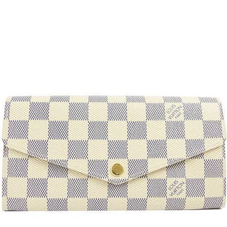 【好物分享】gohappyLouis Vuitton LV N63208 熱銷款發財包白棋盤格紋扣式長夾_預購效果如何太平洋 sogo 永和