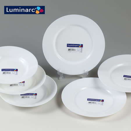 【Luminarc樂美雅】6件式餐盤組(22cm深盤X3+24cm平盤X3)