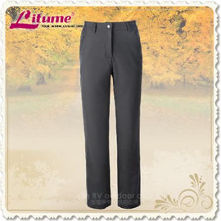 【意都美 Litume】女款 休閒保暖長褲/舒適.透氣.保暖_炭灰 P8701
