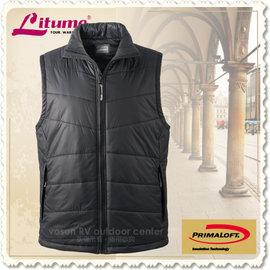【意都美 Litume】男款 頂級超輕量Primaloft休閒保暖背心_H7035 黑