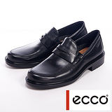 ECCO Boston Slip-On 直套紳士皮鞋男鞋-黑
