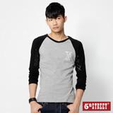 5th STREET 棒球系列中性T恤-男-麻灰色