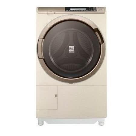 日立HITACHI 11.5公斤熱氣噴霧尼加拉飛瀑滾筒式洗脫烘洗衣機 SFSD3100W (左開)
