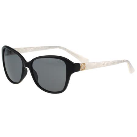GUESS-時尚中性太陽眼鏡(黑框+白腳)
