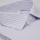【金安德森】紫色寬排紋窄版長袖襯衫