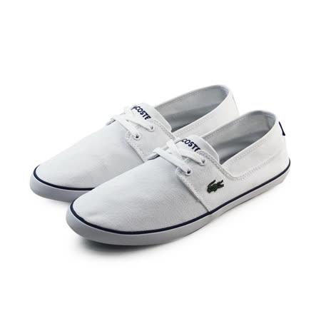 (男)LACOSTE MARICE LACE URS SPM WHT/DK BLU TEXTILE 休閒鞋 白-PM2021-X96
