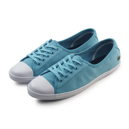 (女)LACOSTE ZIANE PIQ SPW TRQS/TRQS TEXTILE 休閒鞋 天光藍-PW2210-TT1