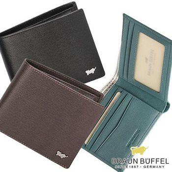 BRAUN BUFFEL 德國小金牛 HOMME 紳士系列5卡相片短夾 - 3色
