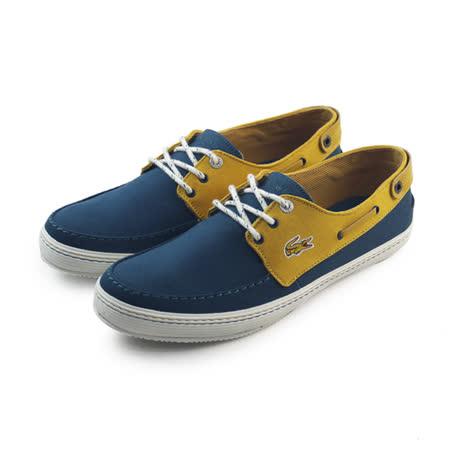(男)LACOSTE SUMAC 8 AP SRM DK BLU/YLWCNV 休閒鞋 淺藍/鵝黃-RM2406-250