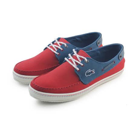 (男)LACOSTE SUMAC 8 AP SRM RED/DK BLU CNV 休閒鞋 紅/深藍-RM2406-SW4