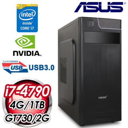 華碩B85平台【烽火燎原】Intel i7-4790四核 GT730-2G獨顯 1TB效能電腦