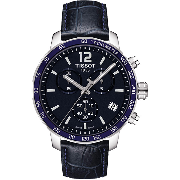 TISSOT T~Sport Quickster 競速 計時腕錶~深藍42mm T0954