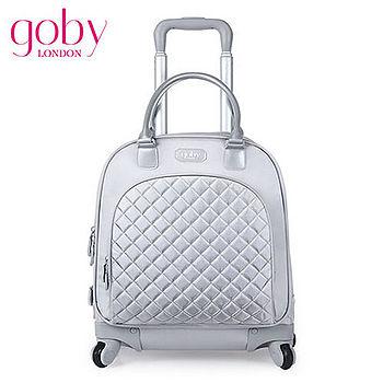 goby果比18吋四輪多功能手提小拉桿箱(萬向輪女性登機行李箱)-珍珠銀
