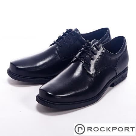 Rockport (女) STYLE TIP都會雅仕系列四孔繫帶皮鞋-黑