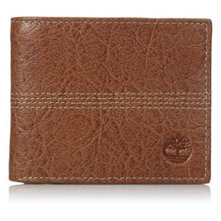 Timberland 2015男時尚Quaz白蘭地色 薄型雙折色皮夾【預購】