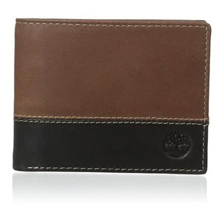 Timberland 2015男時尚Hunter黑棕雙色雙折色皮夾【預購】